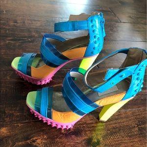 Rachel Roy Neon shoes